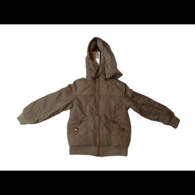 122-es drapp steppelt átmeneti kabát lánynak - Grace - ÚJ