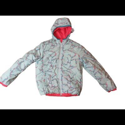 158-as türkiz-piros mintás kifordítható télikabát - Wedze, Decathlon