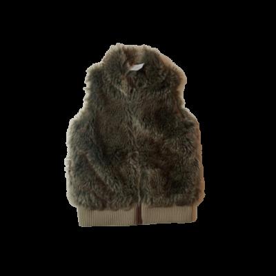 140-es szürke-barna szőrmés mellény - Red Herring
