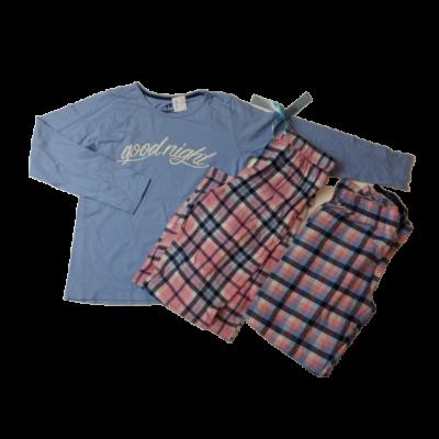 134-140-es 3 részes kék-rózsaszín pizsama - Pepperts