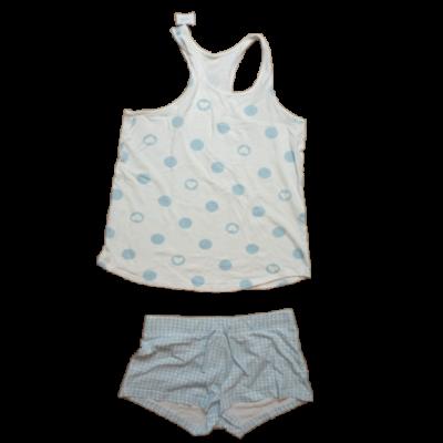 158-as fehér-kék lány pizsama