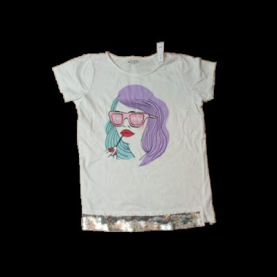 164-es fehér lányos póló - Reserved