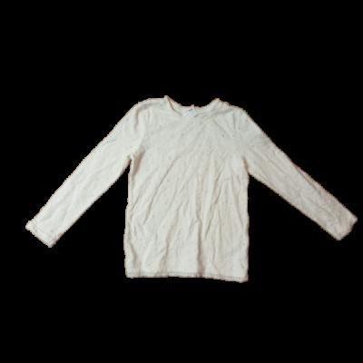 122-es fehér áttört mintás elegáns pamutfelső lánynak - F&F