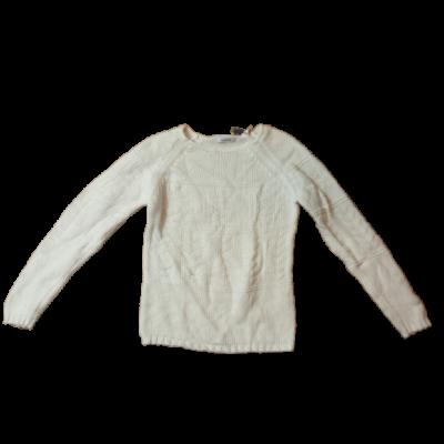 128-as fehér kötött lány elegáns pulóver - Okaidi