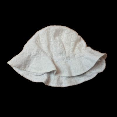 48 cm-es fejre fehér magában mintás nyári kalap lánynak