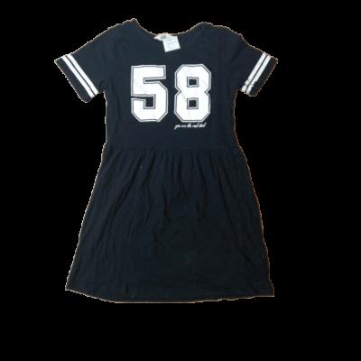 146-152-es fekete számos ruha - H&M