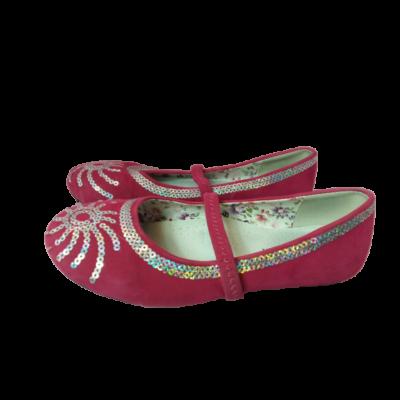 33-as pink flitteres pántos balerinacipő