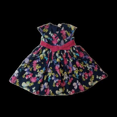 98-104-es sötétkék virágos elegáns ruha - Marks & Spencer