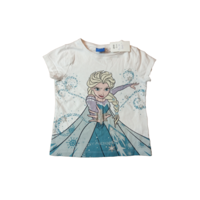 92-98-as fehér póló - Jégvarázs, Frozen