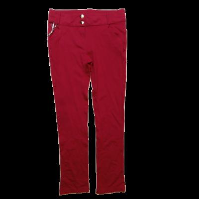 164-es pink sztreccs pamutnadrág - ÚJ