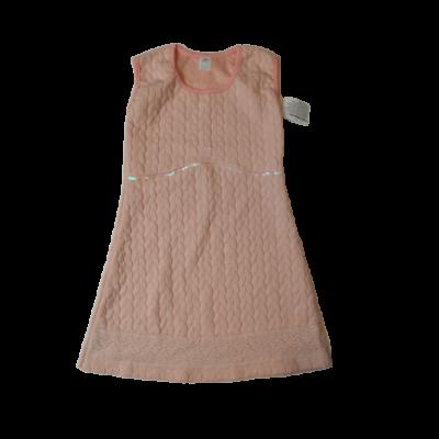 140-es barackszínű magában mintás ruha - ÚJ