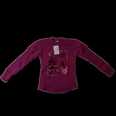 122-es pink mintás vékonyabb pulóver - ÚJ