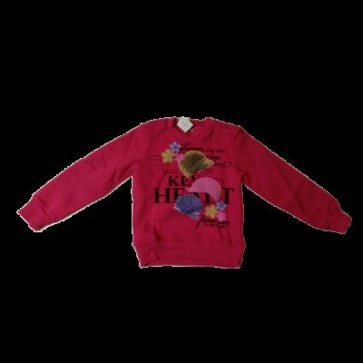 116-os pink strasszos vastagabb pulóver - ÚJ