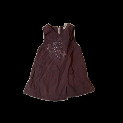 80-as lila virágos bélelt ujjatlan ruha - Obaibi