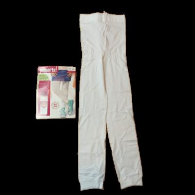 134-140-es fehér lábfej nélküli nylonharisnya - Pepperts - ÚJ