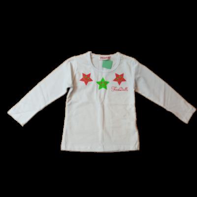 92-es fehér csillagos pamutfelső - Cross Fire - ÚJ
