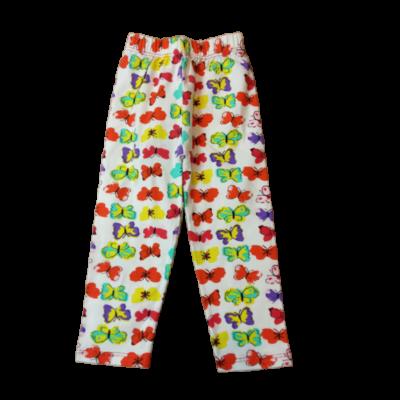 92-es fehér alapon színes lepkés leggings - ÚJ