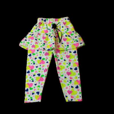 92-es színes szivecskés szoknyás leggings - ÚJ