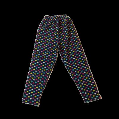 104-es kék alapon színes szivecskés leggings - ÚJ
