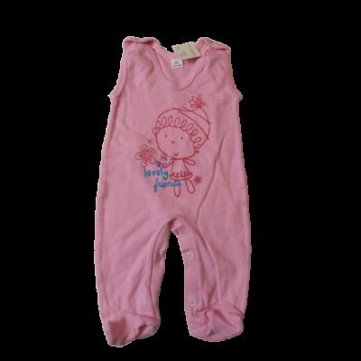 62-es rózsaszín ujjatlan kislányos pamutrugi - ÚJ