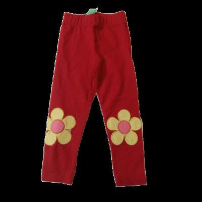 86-os piros virágos leggings - ÚJ