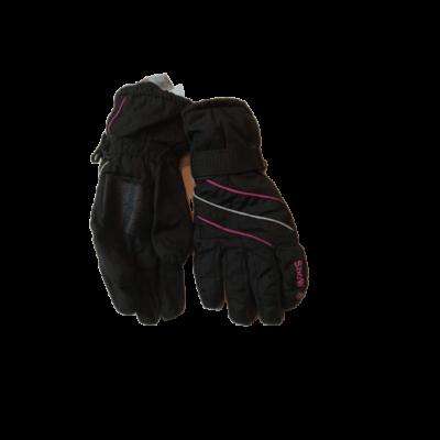Kamasz méretű fekete-rózsaszín síkesztyű