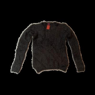 146-152-es fekete csillogó kötött pulóver - Y.F.K.