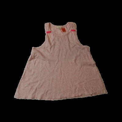 152-es rózsaszín virágos ujjatlan póló - Zara
