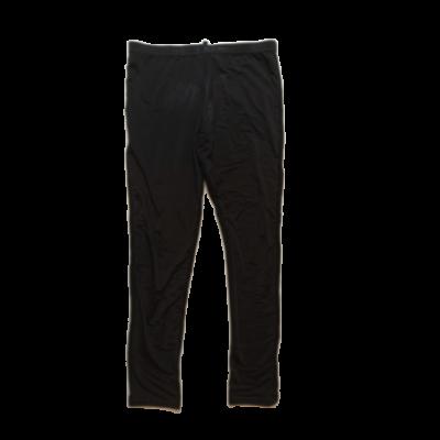 134-140-es fekete, enyhén fényes anyagú leggings - Calzedonia