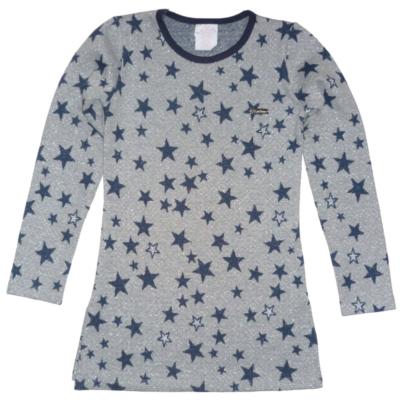 158-as szürke csillogó csillagos tunika - Killy - ÚJ
