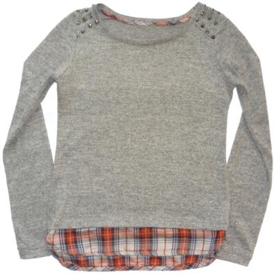 158-as szürke vékony lány pulóver