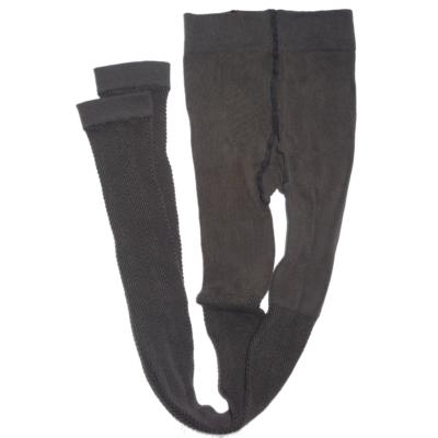 158-164-es barna magában mintás lábfej nélküli harisnya - ÚJ