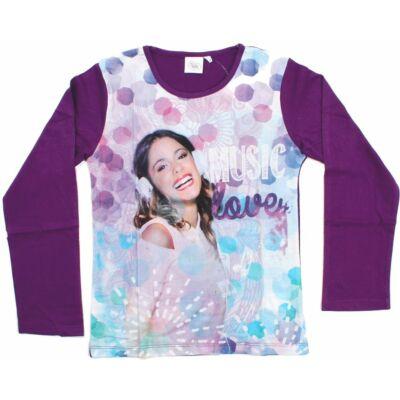 116-os lila pamutfelső - Violetta - Disney - ÚJ
