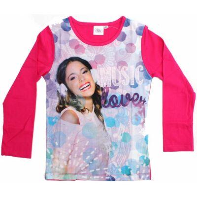 116-os pink pamutfelső - Violetta - Disney - ÚJ