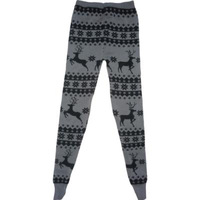 122-es szürke szarvasos kötött leggings - ÚJ