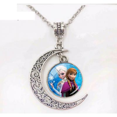 Anna és Elza nyaklánc félholdas medállal - Frozen, Jégvarázs - ÚJ