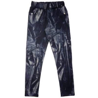 128-as kék farmer mintás leggings - ÚJ