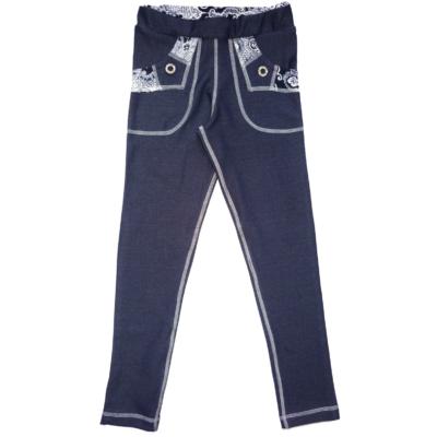 170-es kék virágos sztreccs nadrág - ÚJ