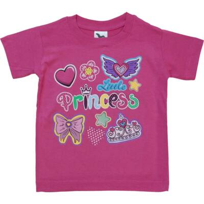 110-es pink koronás-feliratos póló - ÚJ
