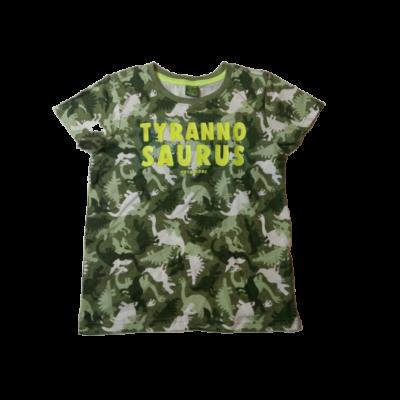 122-es zöld terepszínű dínós póló - Kiki & Koko - ÚJ