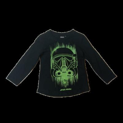 104-es fekete, zöld mintás pamutfelső - Star Wars - ÚJ
