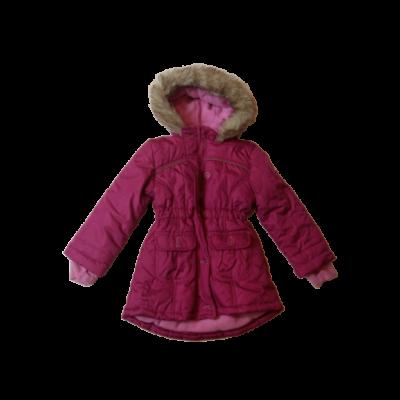 104-es pink kapucnis télikabát - Kiki & Koko - ÚJ