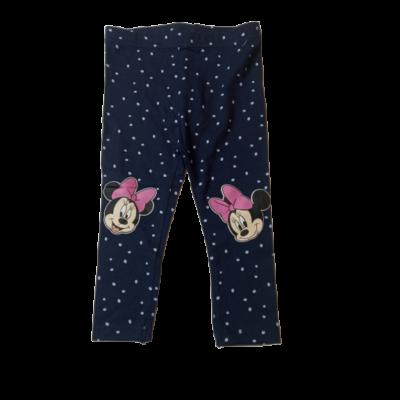 80-as sötétkék pöttyös leggings - Minnie Egér - ÚJ