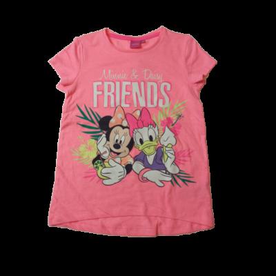 116-os neonrózsaszín póló - Minnie Egér és Daisy Kacsa - ÚJ