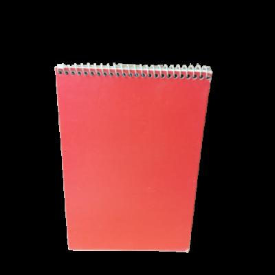 A5-ös vonalas spirál jegyzetfüzet, piros - ÚJ