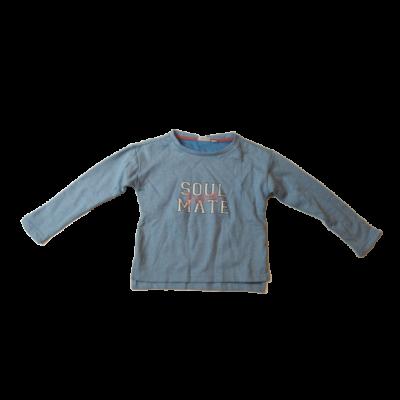128-as kék feliratos lány pulóver - Alive - ÚJ