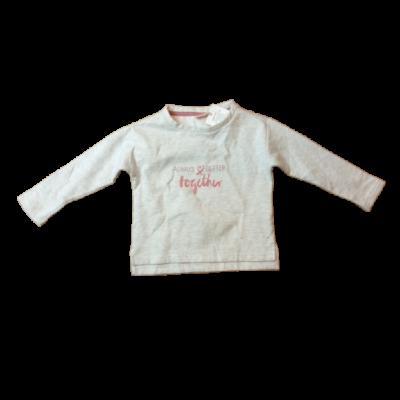 110-es szürke lány pamut pulóver - Alive - ÚJ