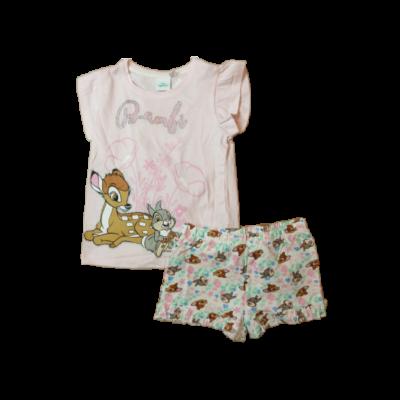 110-116-os rózsaszín nyári pizsama - Bambi - ÚJ