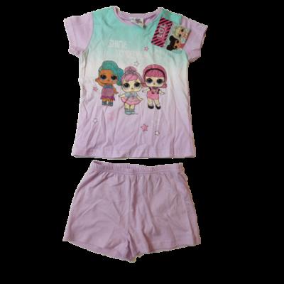 110-116-os lila-türkiz lányos nyári pizsama - Lol Surprise - ÚJ