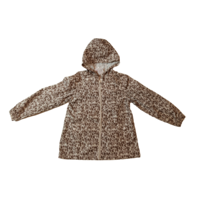128-as barna leopárd mintás vékony átmeneti kabát - Young Dimension